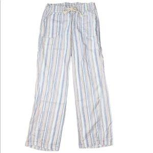 Cali 1850 linen/cotton wide leg twist seam pants